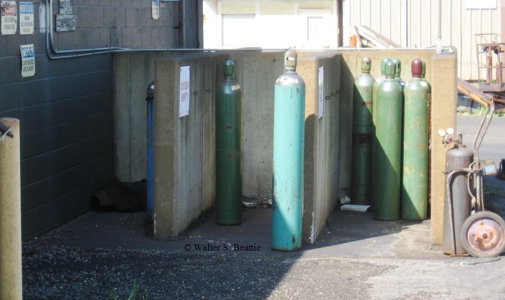 Improper Pressurized Compressed Gas Cylinder Storage