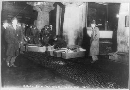 Coffins from Triangle Shirtwaist Factory Fire - Library of Congress. No known restrictions to publish
